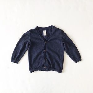 H&M navy knit cardigan VGUC 9-12 months
